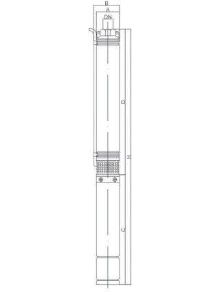 Глубинный насос Euroaqua 75 QJD 140-1,1 кВт