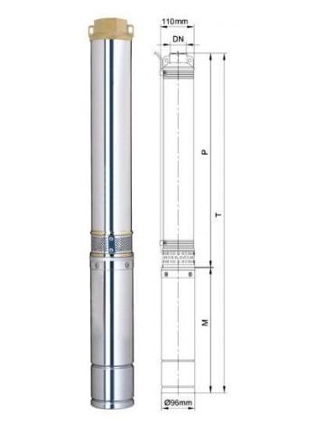 Насос глубинный центробежный Aquatica 777125 1,5 кВт; h-176м