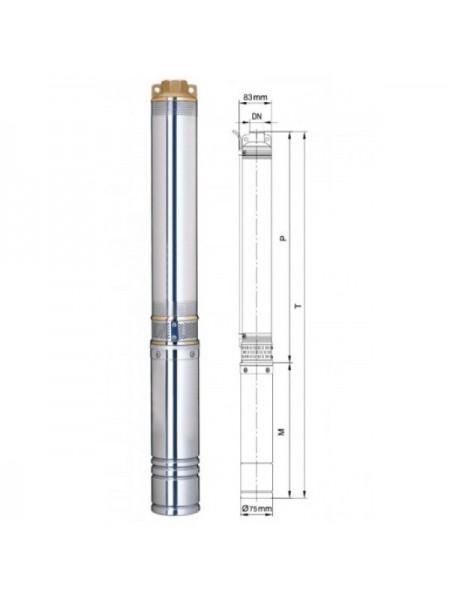 Насос погружной центробежный Aquatica 777090 0,37 кВт; h-34м